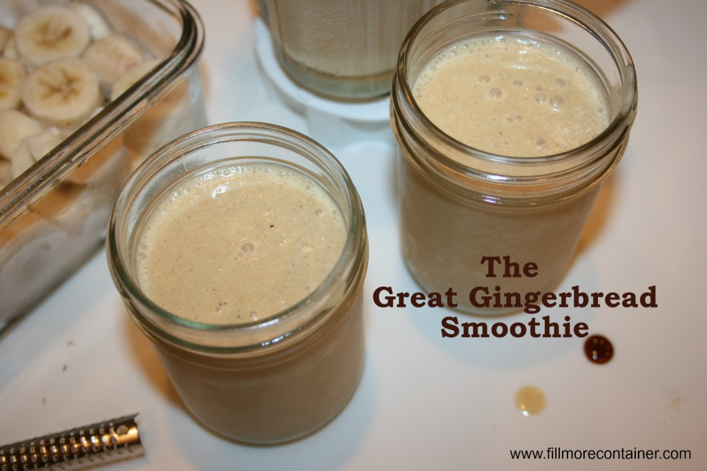 Gingerbread Smoothie with text