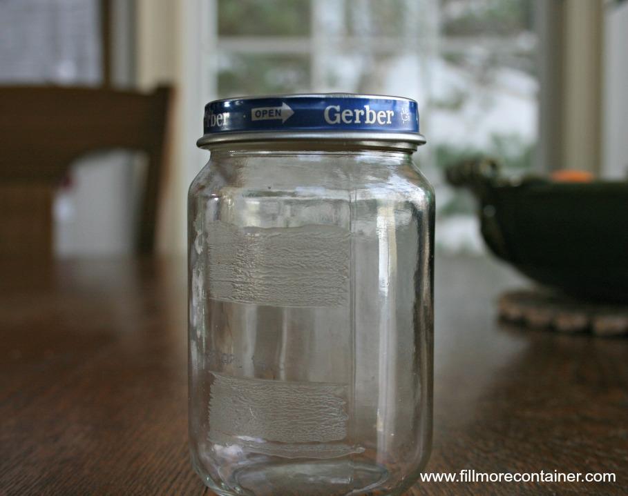 Baby Food Jar Crooked Lid