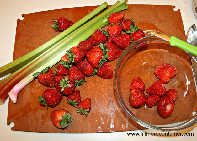 Rhubarb Stalks & Strawberries