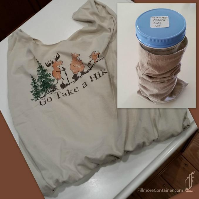 blogTee Shirt Tote and Jar Sleeve