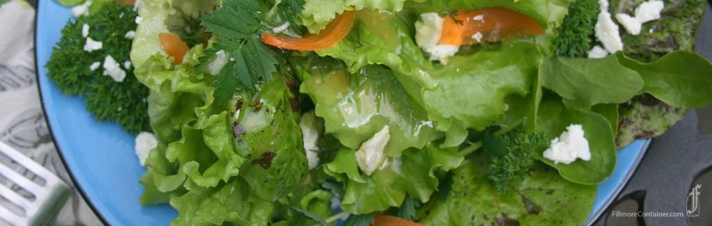 Dill Vinaigrette on salad