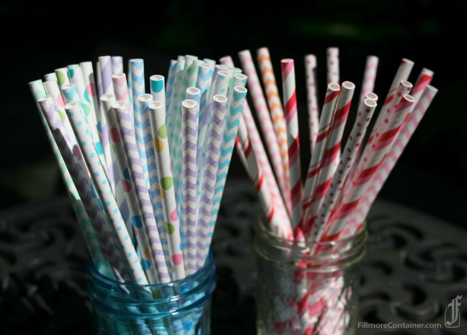 Chevron, Dots, Mini Dots, Pencil Stripe Straws Fillmore Container Close